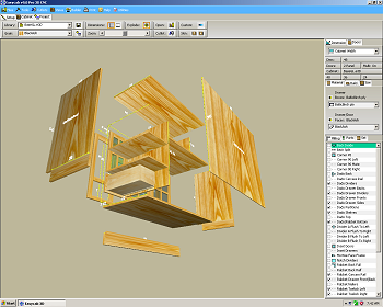 3D Cabinet Exploded View